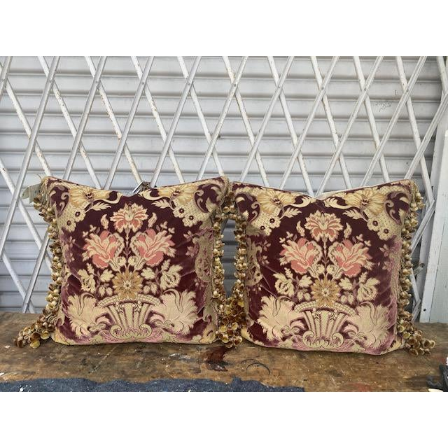 Traditional Janet Yonati Silk Velvet Pillows - a Pair For Sale - Image 12 of 12