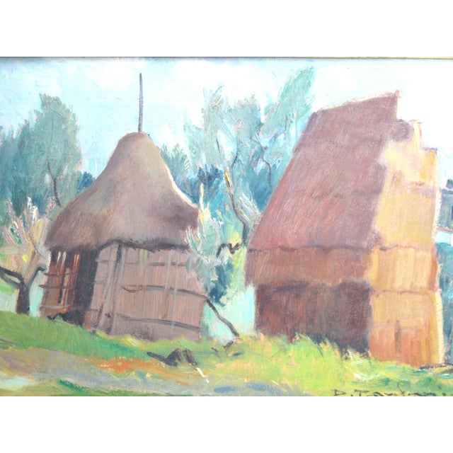 Signed original work by listed artist Desiderio Tanfani (1897 – 1977) Italy. This is a bucolic scene rendered in 1955. It...