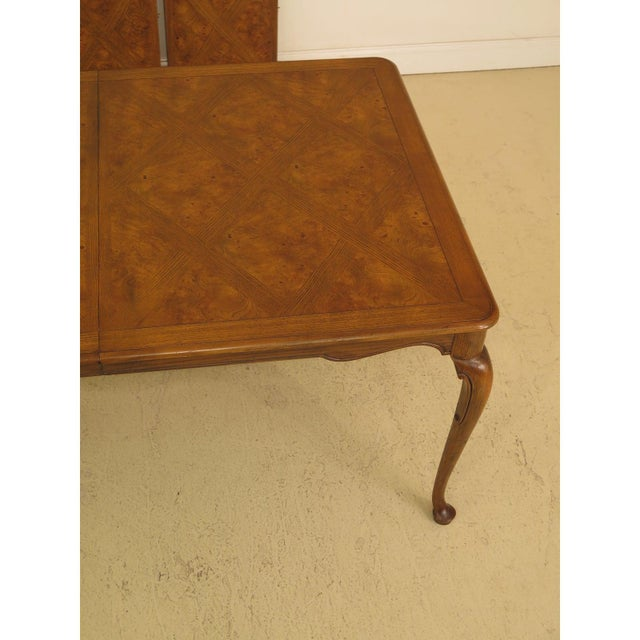 Wood 1970s Queen Anne Baker Walnut & Oak Dining Room Table For Sale - Image 7 of 12