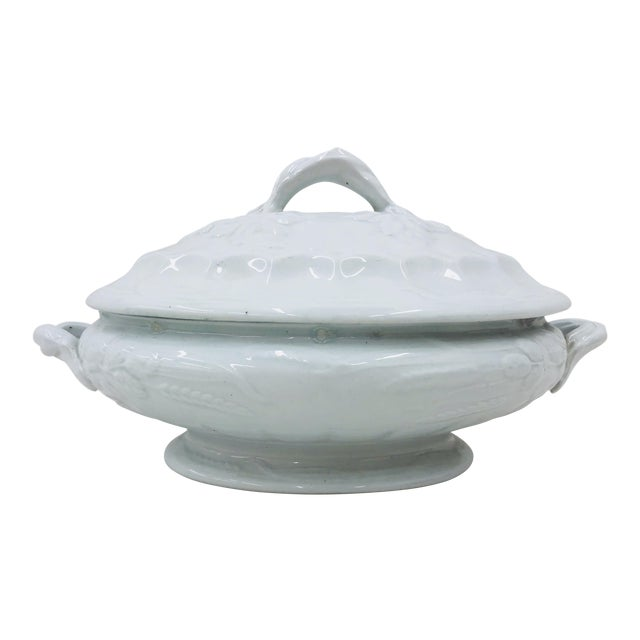 Antique English Ironstone Tureen For Sale