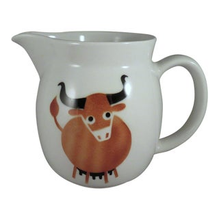 Arabia of Finland Mid-Century Modern Longhorn Cow Pitcher