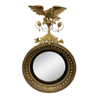 Regency Period Bullseye Giltwood Mirror For Sale
