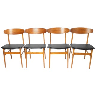 Danish Farstrup Dining Chairs in Teak - 4 For Sale