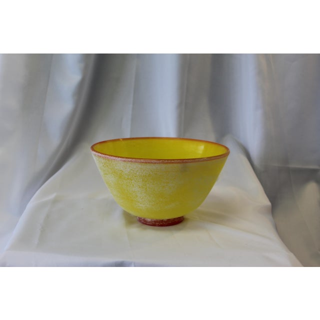 Late 20th Century Vintage Frosted Murano Glass Bowl For Sale - Image 5 of 5