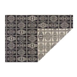Modern Kilim Freedom Etnico 10 Black/Off White Rug- 6′7″ × 10′1″ For Sale