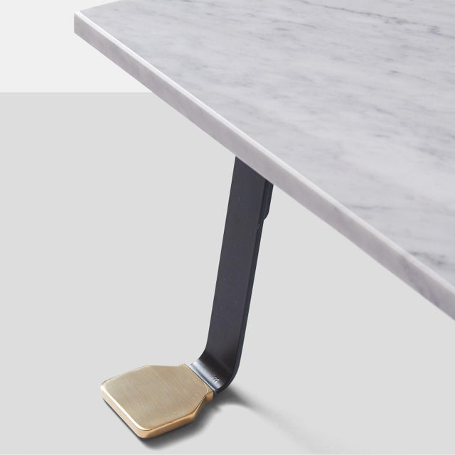 2010s Italian Carrara Marble-Top Coffee Table For Sale - Image 5 of 7