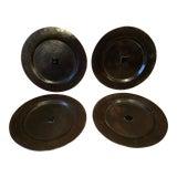 Image of Antique Arts & Crafts Roycroft Hand Hammered Copper Plates - Set of 4 For Sale
