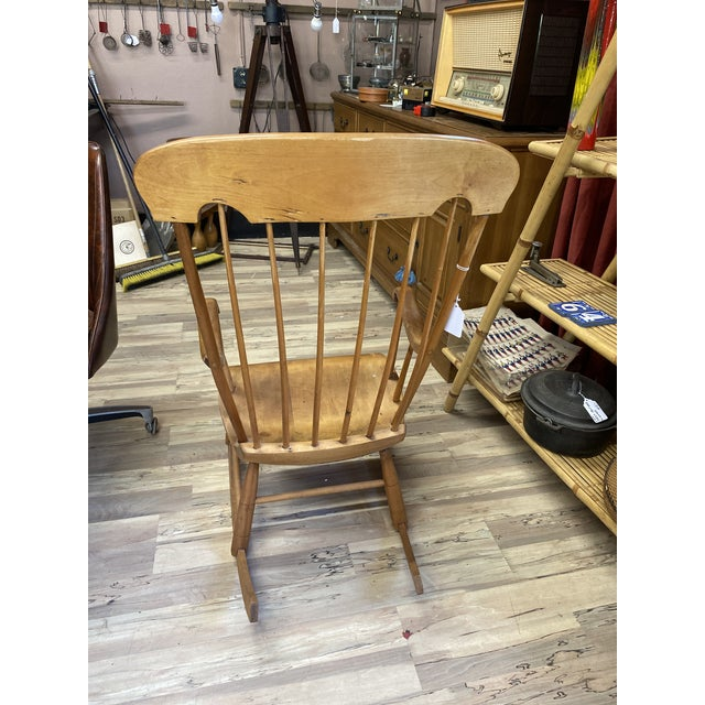 Vintage Refinished Rocking Chair For Sale - Image 4 of 5