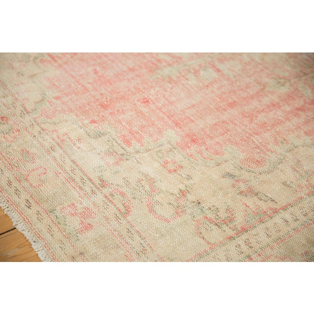 "1950s Vintage Distressed Oushak Carpet - 6'2"" X 10'8"" For Sale - Image 5 of 13"