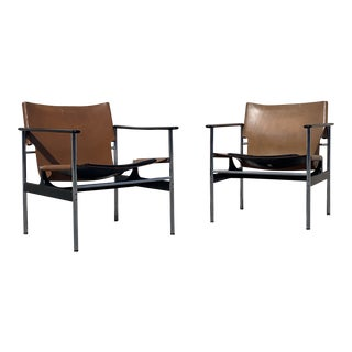 Knoll Pollock 657 Chairs - a Pair For Sale