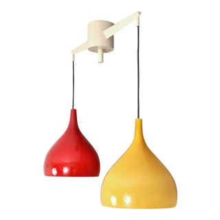 Venini Two Shade Pendant Lamp, Italy 1950s For Sale