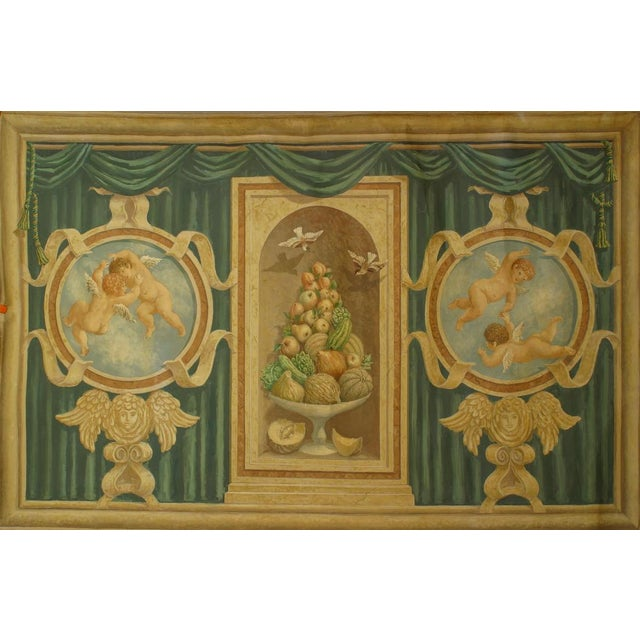 Mid 19th Century Large 19th Century Italian Neoclassical Mural Style Canvas Painting For Sale - Image 5 of 5