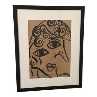 Peter Keil Large Cubist Face Painting 1962 Palma