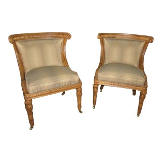 Ferguson Copeland Livorno Regency Style Chairs on Castors- a Pair For Sale