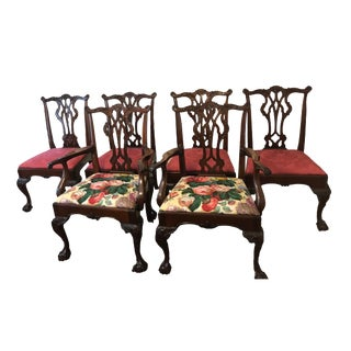 Kindel Chippendale Winterthur Mahogany Dining Room Chairs - Set of 6 For Sale