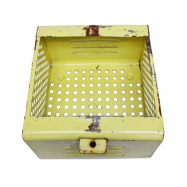 Vintage Yellow Gym Locker Basket - Image 5 of 5
