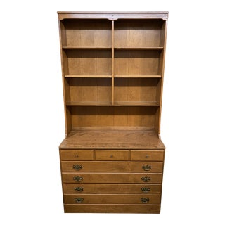 Ethan Allen Traditional Wood Bookcase For Sale
