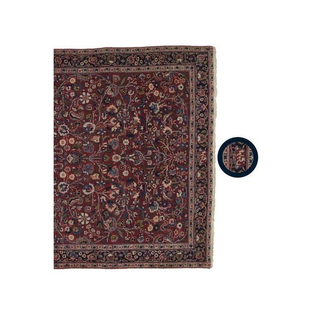 Antique Persian Mashad Extra Long Hallway Runner For Sale - Image 4 of 8