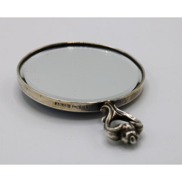 Jasperware Sterling Silver Wedgewood Purse Mirror For Sale - Image 4 of 8