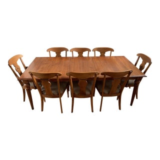 1990s Country Ethan Allen Country Crossing Dining Set - Set of 8 For Sale