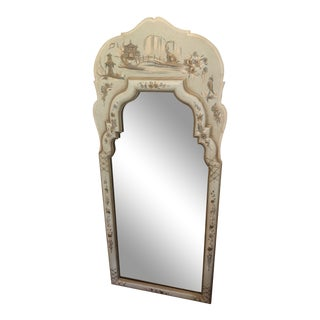 Chinoiserie Style Pagoda Wall Mirror For Sale