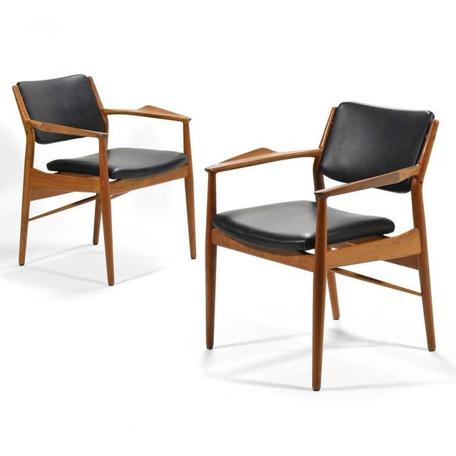 Black Arne Vodder Armchairs by Sibast For Sale - Image 8 of 8