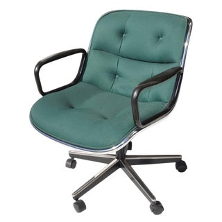 Green Fabric Executive Knoll Pollock Chair For Sale