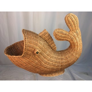 1970s Wicker Fish Basket or Bowl Preview