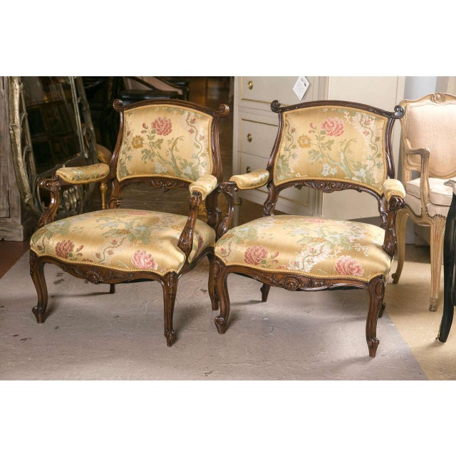 French Rococo Louis XV Style Armchairs - A Pair - Image 2 of 9