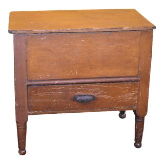 19th Century Antique Primitive Sugar Chest
