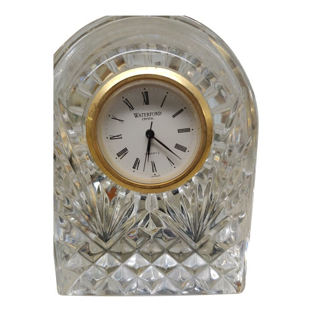 1990s Waterford Crystal Clock For Sale