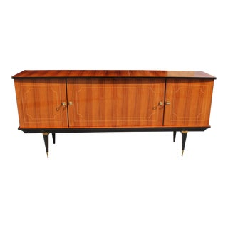 French Art Deco Light Exotic Macassar Bony Sideboard Circa 1940s For Sale