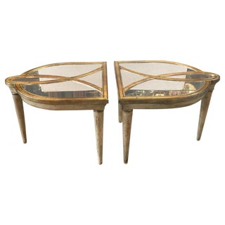 20th Century Hollywood Regency Two-Part Mirrored Cocktail Tables - 2 Pieces For Sale