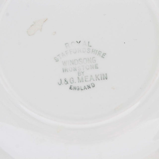 Mid 20th Century English Royal Staffordshire J & G Meakin Wondsong Brown Transferware Plate For Sale - Image 5 of 6