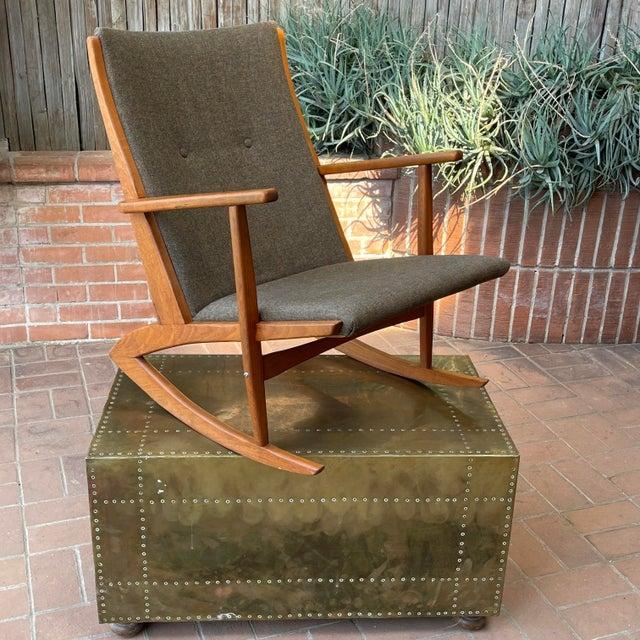 Danish Modern Furniture Designer Georg Jensen (same name, but not the silversmith) for Tønder Møbelværk Teak Rocking...