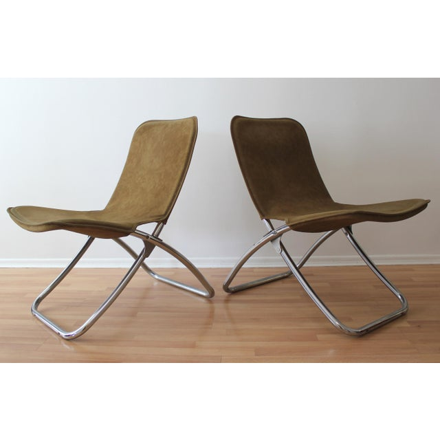 Folding Lounge Chairs - a Pair - Image 3 of 7