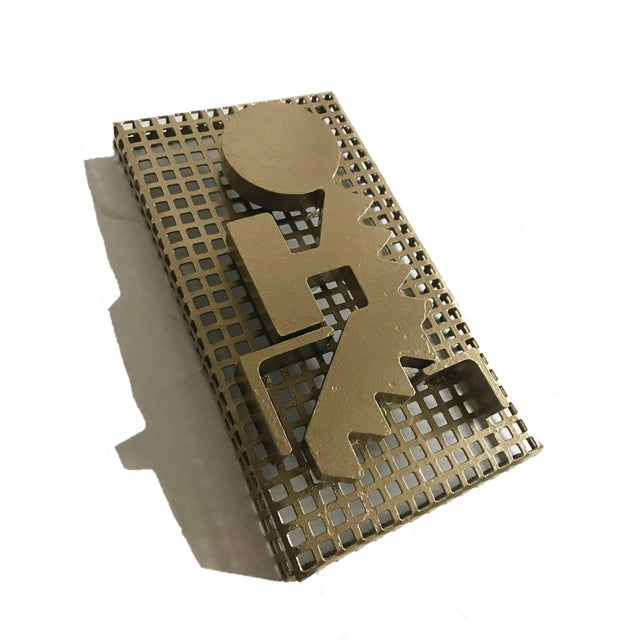 1960s Modernist Perforated Metal Art Sculpture For Sale - Image 5 of 7