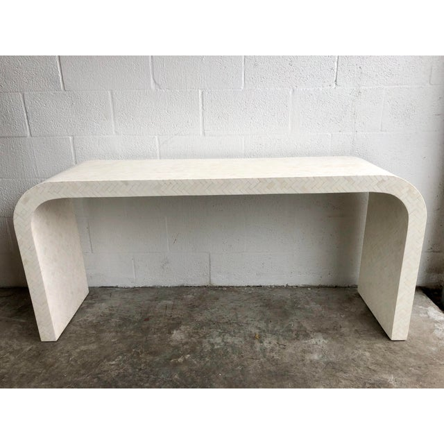 Modern Tessellated Bone Waterfall Console Table For Sale - Image 9 of 9