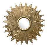 Image of Italian Gilt Wood Sunburst Mirror For Sale