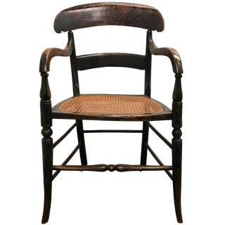 Early 19th Century American Empire Oak Armchair For Sale