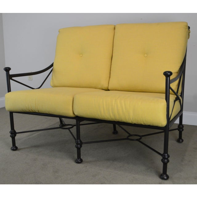 Giacometti Style Patio Love Seat by Winston For Sale - Image 9 of 13