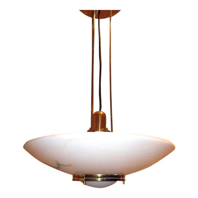 Lightolier Alabaster Pendant Light - Image 1 of 9