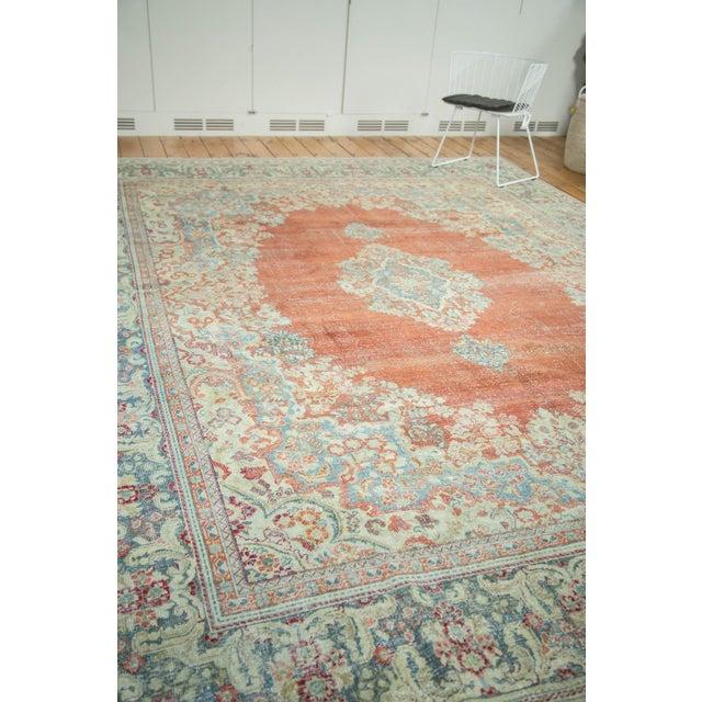"""Vintage Distressed Arak Carpet - 10' x 13'3"""" For Sale - Image 10 of 10"""