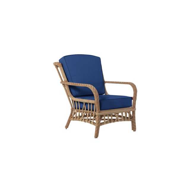 Transitional Viscaya Club Chair in Pacific Blue For Sale - Image 3 of 3