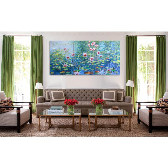 """Waterscape"" Geoff Greene Contemporary Triptych in 3 Sections For Sale - Image 6 of 9"