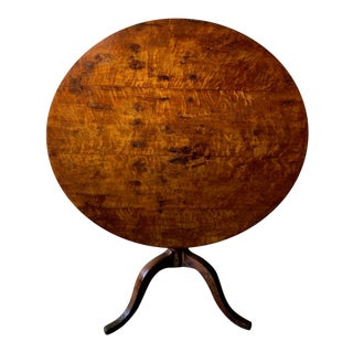 Antique Tilt Top Table For Sale