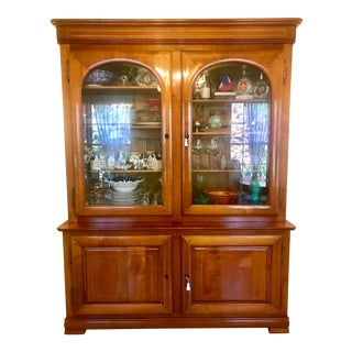 French Roche Bobois Les Provinciales, Cherry Wood Bibliotheque Buffet For Sale
