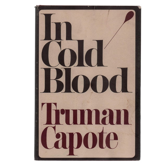 "1965 ""First Edition, in Cold Blood by Truman Capote"" Collectible Book For Sale"