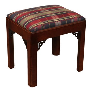 Century Chair Company Cherry Chippendale Style Stool For Sale