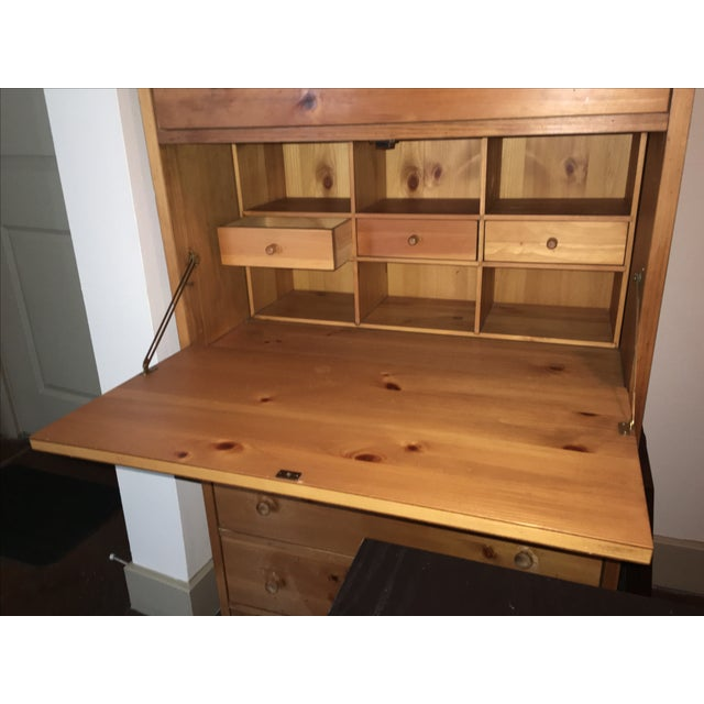 Wooden Cabinet With Hutch and Drawer - Image 5 of 6